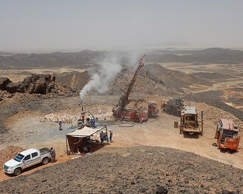Jebel Ohier PCD history of QMSD exploration